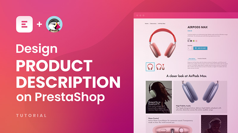How to design product description on PrestaShop with Creative Elements page builder