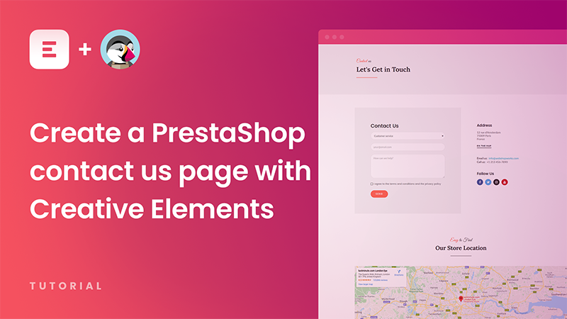 Create a PrestaShop contact us page with Google Maps using Creative Elements page builder [Tutorial]